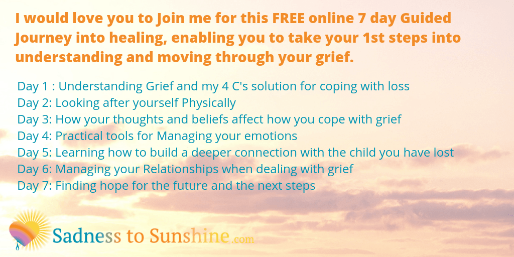 7 day journey for bereaved parents to avoid needing counselling in Kent